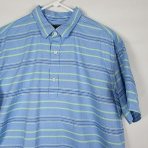 Banana Republic XL Oxford Shirt Blue Green Shirt